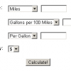 Gas Mileage Calculator